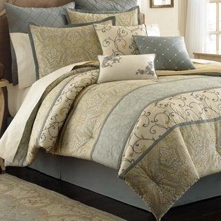 Laura Ashley Berkley 4-piece Comforter Set with Euro Sham Separate Option