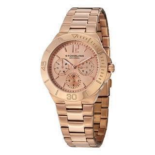 Stuhrling Original Women's Lady Capital Quartz Bracelet Watch Rose Tone