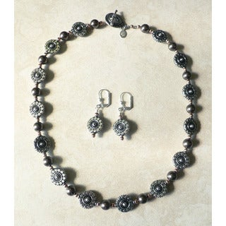 'Sunfire' Necklace and Earring Set