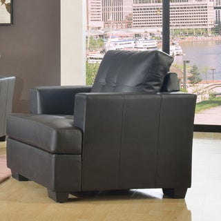 Nova Black Bonded Leather Modern Chair