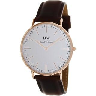 Daniel Wellington Men's Classic 'St. Andrews' Brown Leather Quartz Watch