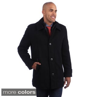 Andrew Marc Men's Button-up Wool Blend Coat