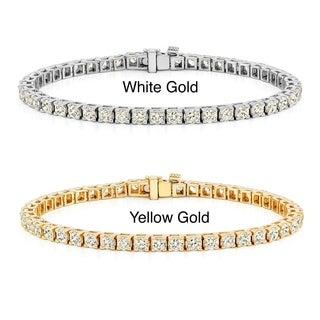 Auriya 14k Gold 2 to 12ct TDW Prong-set Diamond Tennis Bracelet (J-K, I2-I3)