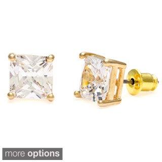 Simon Frank 8x8 mm Princess-cut Cubic Zirconia Stud Earrings