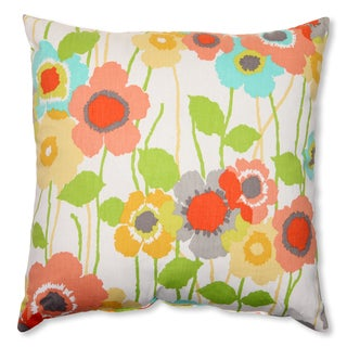 Pillow Perfect Pic-A-Poppy Seaglass 16.5-inch Throw Pillow