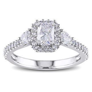Miadora 14k Gold 1 1/5ct TDW Radiant Cut Diamond Ring (G-H, I1-I2)
