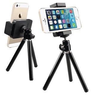 INSTEN Black Universal Tripod Phone Holder for Apple iPhone 4/ 4S/5/ 5S/ 6