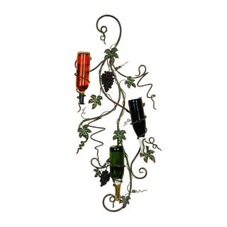 Grape Vine Metal Wall Wine Rack
