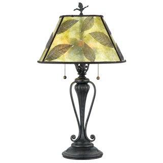 Quoizel 'Mica Leaf' Table Lamp