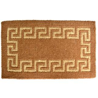 Outdoor Coconut Fiber Greek Key Door Mat (2'6 x 1'6)