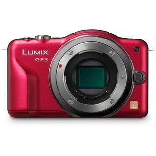 Panasonic Lumix DMC-GF3 12.1MP Red Digital Camera Body Only