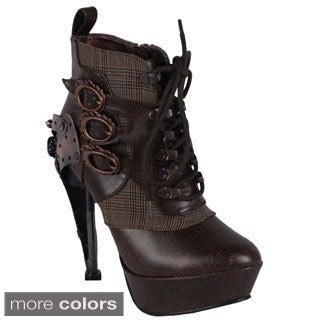 Hades Women's 'Oxford' Steampunk Ankle Bootie