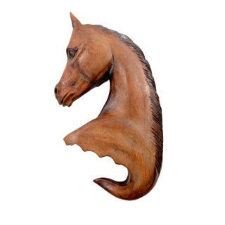Carved Horse Head Wall Hook