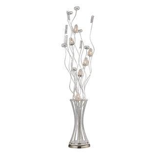 Satin Nickel Contemporary 6-light Floor Lamp