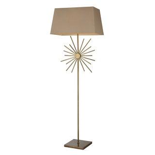 Springtown Antique Brass Floor Lamp
