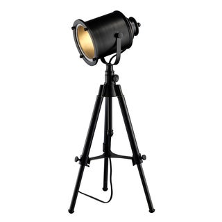 Ethan Adjustable Tripod 1-light Black Table Lamp