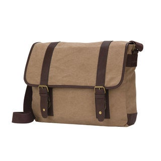 American Casual Collection 16-inch Flap Over Canvas Computer Messenger Bag