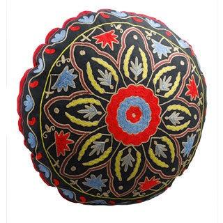 Starburst Design Round Floor Pillow (India)