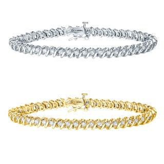 Auriya 14k Gold 1 to 10ct TDW Round Diamond Tennis Bracelet (H-I, I1-I2)