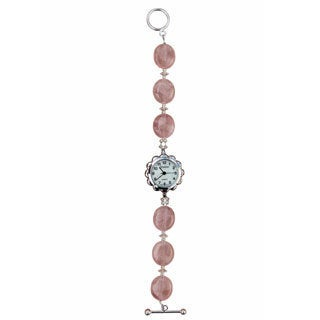 Beadwork By Julie Rose Quartz and Crystal Watch