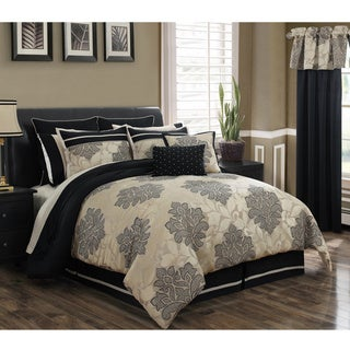 Lafayette 24-piece Jacquard Bed in a Bag with Sheet Set