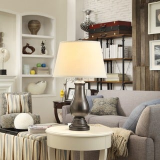 INSPIRE Q Schubert 3-Way Bronze Contoured Base 1-Light Accent Table Lamp