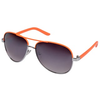 Journee Collection Women's Fashion Aviator Sunglasses - Black or Orange