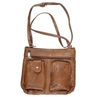 Journee Collection Womens Leather Cross-body Handbag