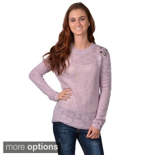 Journee Collection Juniors Longsleeve Scoop Neck Sweater