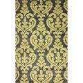 nuLOOM Handmade Modern Damask Slate Rug (7'6 x 9'6)