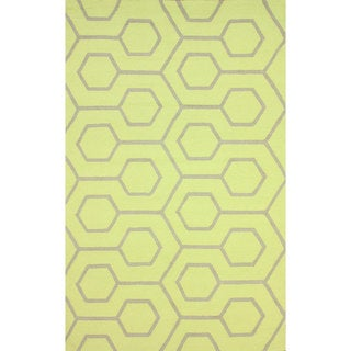 nuLOOM Handmade Modern Indoor/ Outdoor Trellis Lime Rug (9' x 12')