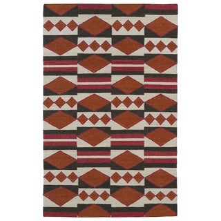 Flatweave TriBeCa Orange Wool Rug (9' x 12')