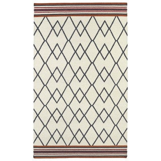Flatweave TriBeCa Ziggy Grey Wool Rug (9' x 12')
