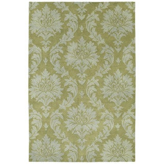 Swanky Avocado Damask Wool Rug (8' x 11')