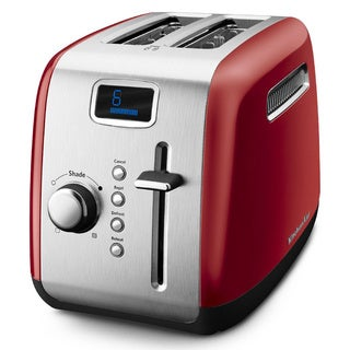 KitchenAid RKMT222ER Empire Red 2-slice Manual High-Lift Lever Toaster (Refurbished)