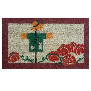 Scarecrow-Coir with Vinyl Backing Doormat (17-inches x 29-inches)