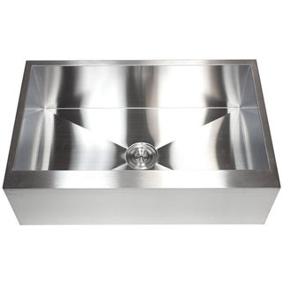 36-inch 16-gauge Farmhouse Single Bowl Flat Apron Kitchen Sink