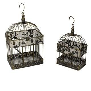 Casa Cortes Decorative Metal Bird Cages (Set of 2)