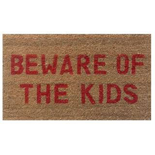 Beware of the Kids-Coir with Vinyl Backing Doormat (17-inches x 29-inches)