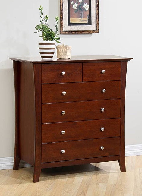 Vermont Six-drawer Chestnut Dresser