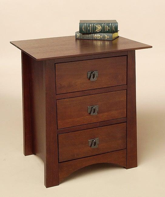 Milton Chestnut Three-drawer Nightstand