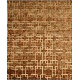 EORC Hand Knotted Jute Links Rug (8' x 10')