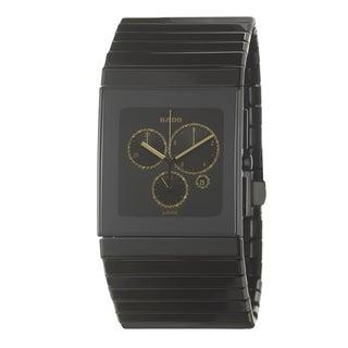 Rado Men's 'Ceramica Chronograph' Ceramic Case Watch with Silvertone Hands