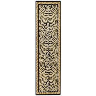 Ephesus Collection Animal Zebra Print Contemporary Runner Rug (1'10 x 6'10)