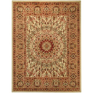 Pasha Collection Medallion Traditional Ivory Area Rug (3'3 x 5')