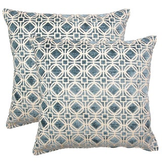 Ramses Teal 17-in Throw Pillows (Set of 2)