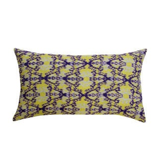 Lime Green Rani Ikat Accent Pillow (India)