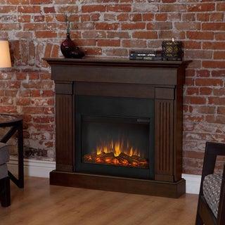 Real Frame 'Crawford' Chestnut Oak Electric Fireplace