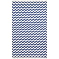 Hand Woven Flat Weave Blue Electro Wool Rug (10' x 14')