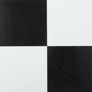 Nexus Black and White 12 x 12-Inch Self Adhesive Vinyl Floor Tile